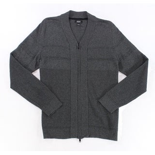 Alfani NEW Gray Mens Size 2XL Full Zip Long Sleeve Cardigan Sweater