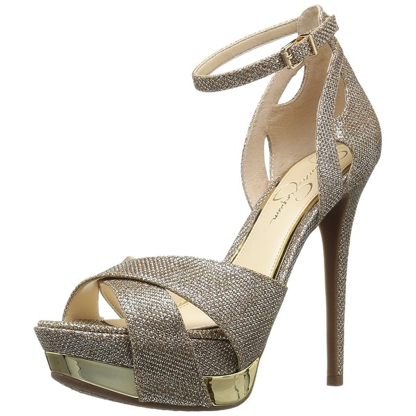 Jessica Simpson Womens Wendah Suede Open Toe Special Occasion Ankle Strap San...