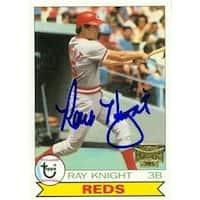Ray Knight Autographed Baseball Card Cincinnati Reds 2002 Topps