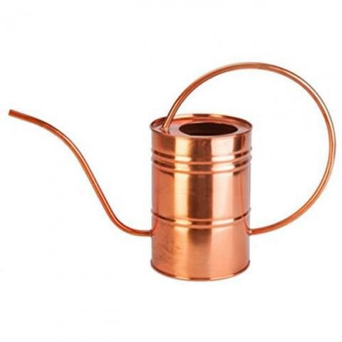 Panacea 84879 Copper Watering Can w/Arched Handle & Tapered Nozzle, 1/2 Gallon