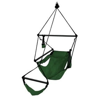 Hammaka Strong & Comfort Hanging Chair Aluminum Dowels for Indoor/Outdoor - Forest Green