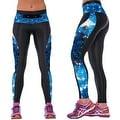 New Women's Printed Gym Running Yoga Pants High Rise Stretch Leggings Sweatpants Winter Trousers - Thumbnail 8