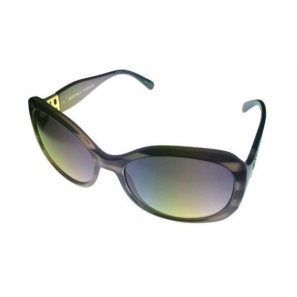 Ellen Tracy Womens Sunglass ET 527 3 Crystal Black Modifed Square Gradient Lens - Medium