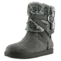 G By Guess Alixa Women  Round Toe Faux Fur Gray Winter Boot