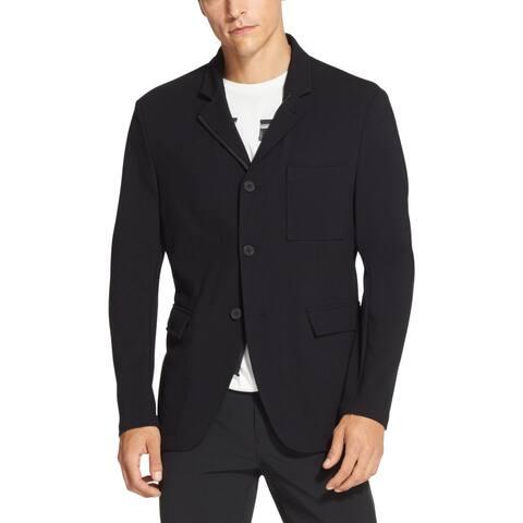 DKNY Mens Dark Navy Blue Size XL Jacket Notch Lapel Three Pocket