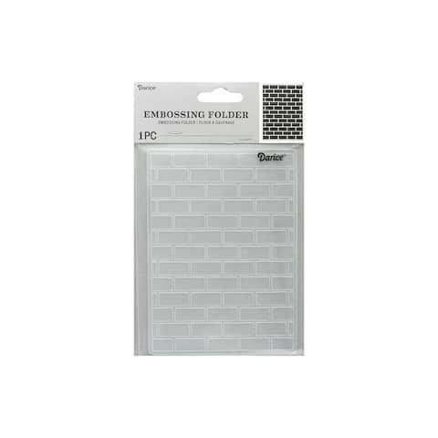 1218-108 darice emboss folder brick pattern