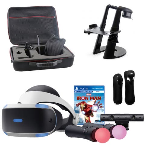 PlayStation VR Marvel Iron Man Bundle and Accessories - New - Black/White