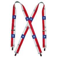 CTM® Elastic Texas Print Suspenders