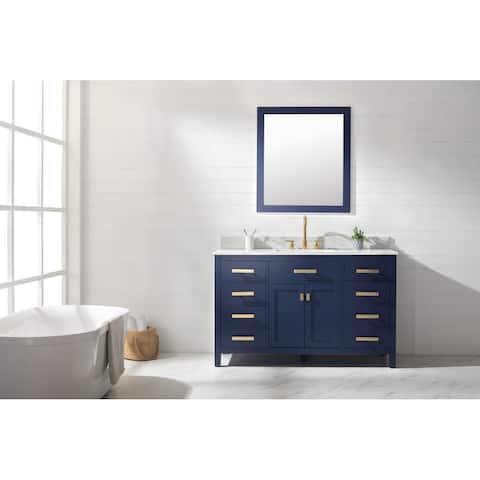 "Valentino 54"" Single Vanity in Blue"