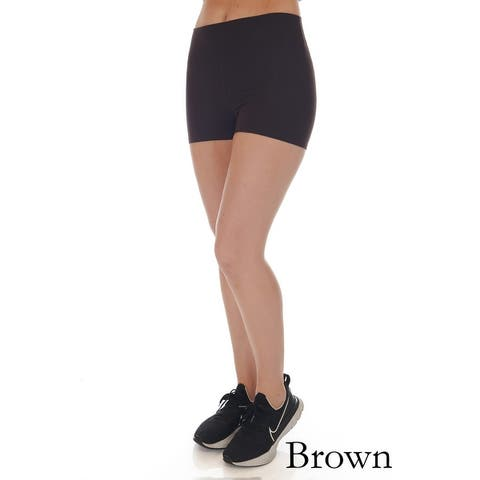 Simply Ravishing Women's Cotton High Waist Yoga Running Bike Shorts
