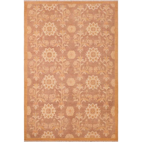 """Shabby Chic Ziegler Antoniet Hand Knotted Area Rug -6'2"""" x 8'10"""" - 6 ft. 2 in. X 8 ft. 10 in."""