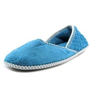 Muk Luks Beverly Micro Chenille Women Round Toe Canvas Blue Slipper