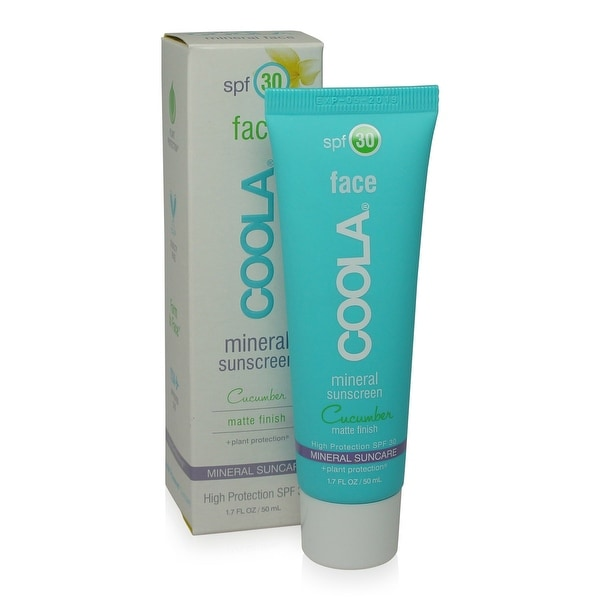 COOLA Mineral Face SPF 30 Sunscreen Lotion Matte Cucumber 1.7 Ounce