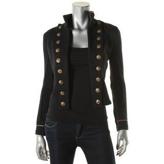 Denim & Supply Ralph Lauren Womens Military Jacket Open Front Long Sleeves