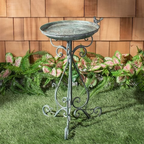 "Safavieh Outdoor Living Ashlan Bird Bath - 16.5""x14.6""x29.1"""