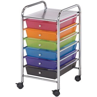 "Storage Cart W/6 Drawers-13""X26""X15.5"" Multicolor"