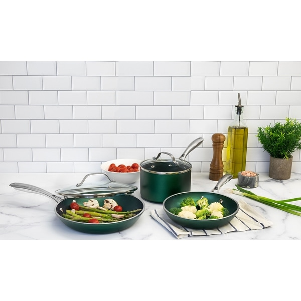 Granitestone Emerald Non Stick 5pc Cookware Set. Opens flyout.