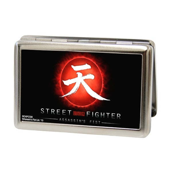 Shop street fighter assassins fist akuma symbol rising sun fcg wallets business card holders street fighter assassinx27s fist akuma symbol rising sun fcg black red white colourmoves