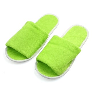 1 Pair Green Foldable Disposable Slipper Hotel Spa Guest Slippers for Women