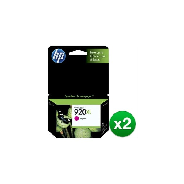 HP 920XL High Yield Magenta Original Ink Cartridge (CD973AN)(2-Pack)