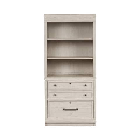 Harvest Home White Bunching Lateral File Cabinet and Hutch