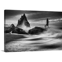 Philip Eaglesfield Premium Thick-Wrap Canvas entitled Iceland Rocks