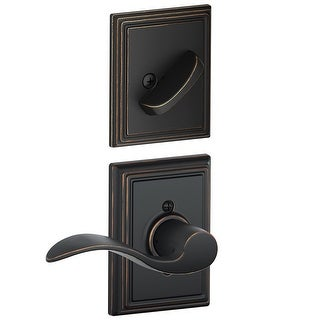 Schlage F59-ACC-ADD-RH  Accent Right Handed Single Cylinder Interior Pack with Decorative Addison Trim - Exterior Handleset Sold