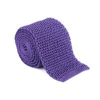 Ford Mens Purple 100% Silk Honeycomb Knit Skinny Square Tie - no size