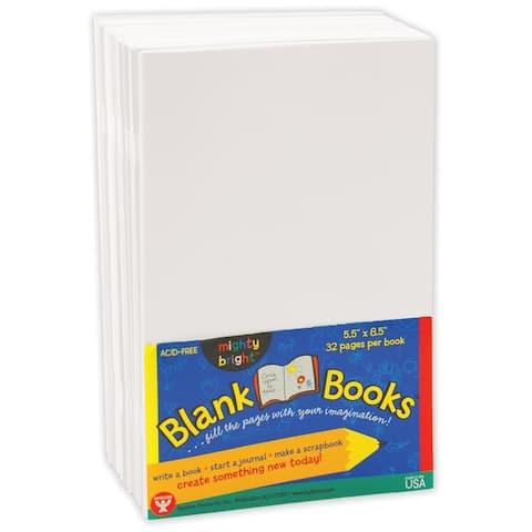 (2 Ea) Mighty Bright Books 32 Pg 5 1/2X8 1/2 10 Books Wht
