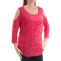 NY COLLECTION Womens Red Party Top  Size: L