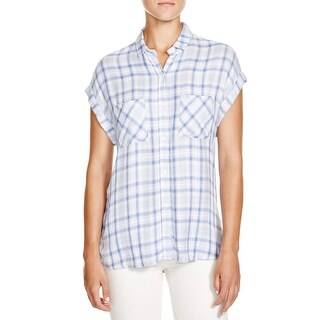 Rails Womens Button-Down Top Woven Checkered