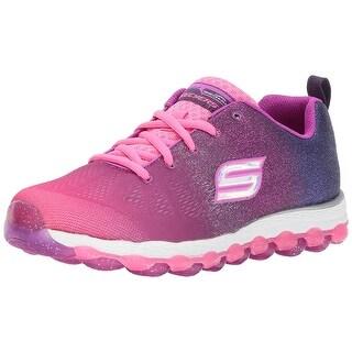 Skechers Kids Girls' Skech-Air Ultra-Sparkle City Sneaker,Hot Pink/Purple,