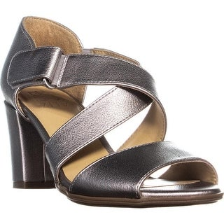 naturalizer Lindy Heeled Open Toe Sandals, Silver Frost