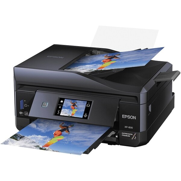 Epson C11ce78201 Xp-830 Wireless Color Photo Printer With Scanner Copier And Fax