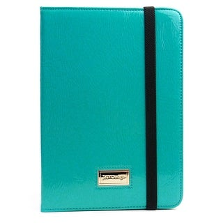 JAVOedge Bold Leopard Folio Case for the Apple iPad Mini (Turquoise)