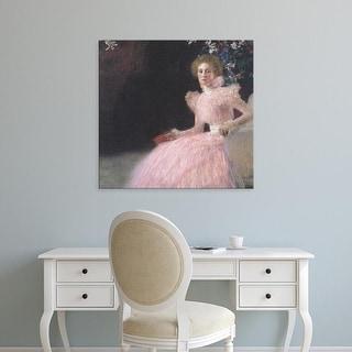 Easy Art Prints Gustav Klimt's 'Sonja Knips' Premium Canvas Art