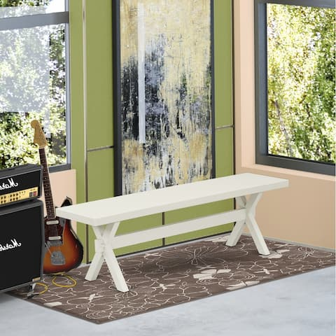 East West Furniture Amazing color bench top surface and an amazing 4 legs X Style in many finish options solid wood - 60