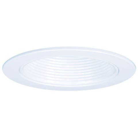 Halo RE-4001WB Trim Series Plastic Step Baffle w/ Trim Ring, White, 4""