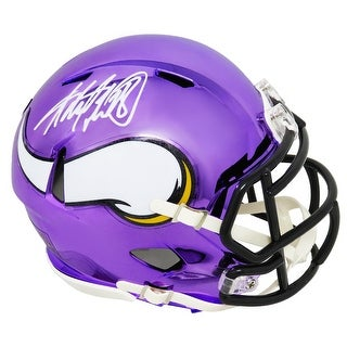 Adrian Peterson Minnesota Vikings Chrome Riddell Speed Mini Helmet