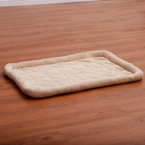 Costway Beige Pet Dog Cat Bed Cushion Mat Pad Kennel Crate Cozy Warm Soft House XS-XXL