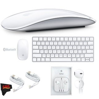 Apple Magic Mouse 2 MLA02LL/A + Apple Magic Keyboard MLA22LZ/A + Apple EarPods with Lightning Connector Bundle