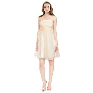 5/48 Angelic Strapless Tulle Asymmetric Eve Dress