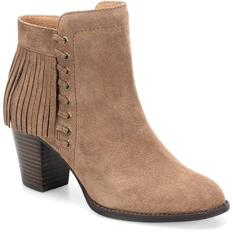fd6cf7ceaae5 Sofft Womens winters Suede Pointed Toe Ankle Fashion Boots - 9.5