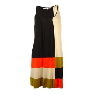 RACHEL Rachel Roy Women's Pleated Colorblocked Knit Dress - xs