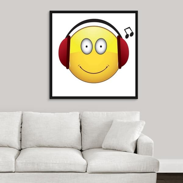Shop Emoji Headphone Music Face - Multi-Color - Free Shipping Today