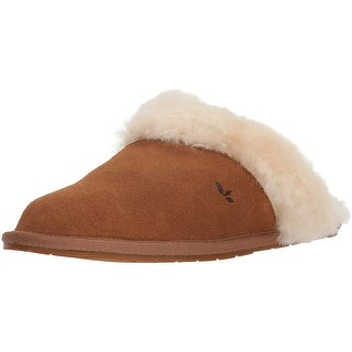 a70c9f9e28b Koolaburra by UGG Womens Milo Scuff Slipper Leather Closed Toe Slip On  Slippers   Overstock.com Shopping - The Best Deals on Slippers