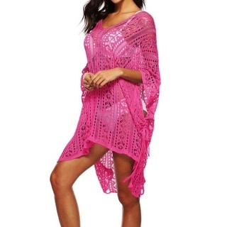 Link to Women's  Hollow Out Swimwear Swimsuit Cover Up Loose Knitted Beach Dresses Similar Items in Swimwear