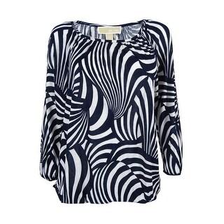 Michael Kors Women's 3/4 Sleeve Scoop Neck Top