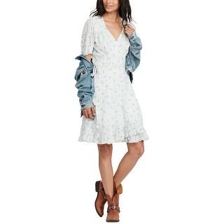 Denim Supply Ralph Lauren Cotton Wrap Dress