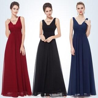 Ever-Pretty Women's Elegant Deep V-neck Long Evening Dress 08110